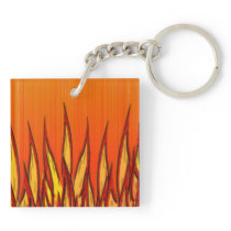 Flames of Fire Keychain