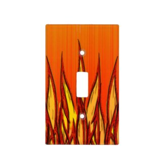 Flames of Fire Light Switch Cover