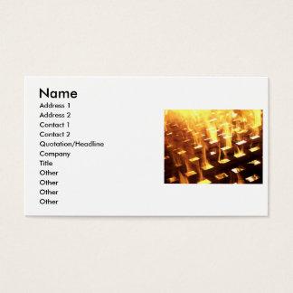 Flames of fire through a lattice photograph design business card