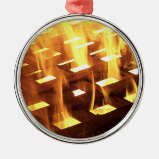Flames of fire through a lattice photograph design ornaments