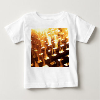 Flames of fire through a lattice photograph design infant t-shirt