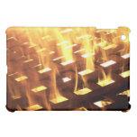 Flames of fire through a lattice photograph design iPad mini cases