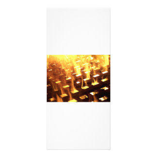 Flames of fire through a lattice photograph design personalized rack card