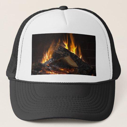 Flames of Fire Trucker Hat
