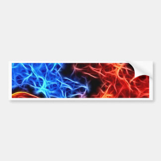 flames of good and evil bumper sticker