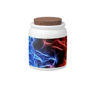 flames of good and evil candy jar