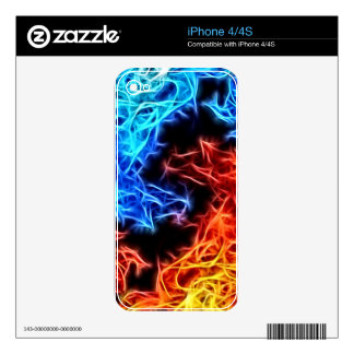 flames of good and evil iPhone 4 decals