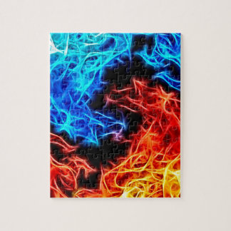 flames of good and evil jigsaw puzzle