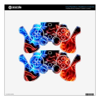 flames of good and evil PS3 controller decals