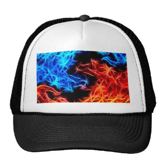 flames of good and evil trucker hat