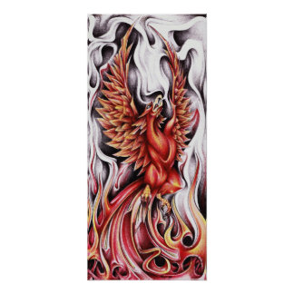 "Flames of the Phoenix 12""x27"" Poster"