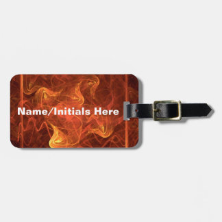 Flames Over Black Luggage Tag