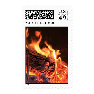 Flames Postage Stamp