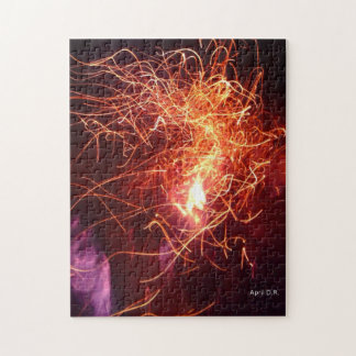 Flames Puzzle,photography Jigsaw Puzzle