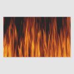 flames rectangle stickers