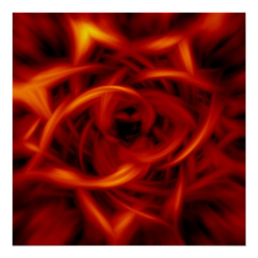 Flames Red Poster