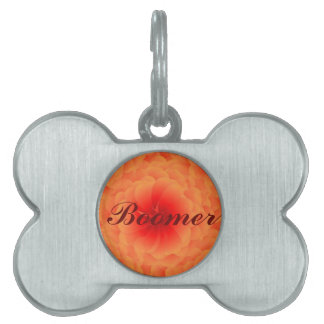 Flame's Rose Pet Tag