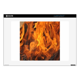 "Flames - Too Hot to Handle 15"" Laptop Decal"