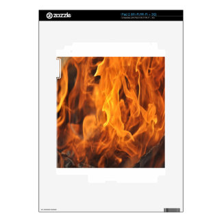 Flames - Too Hot to Handle Decals For iPad 2