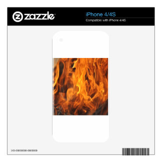 Flames - Too Hot to Handle Skin For The iPhone 4