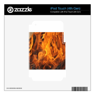 Flames - Too Hot to Handle Skins For iPod Touch 4G