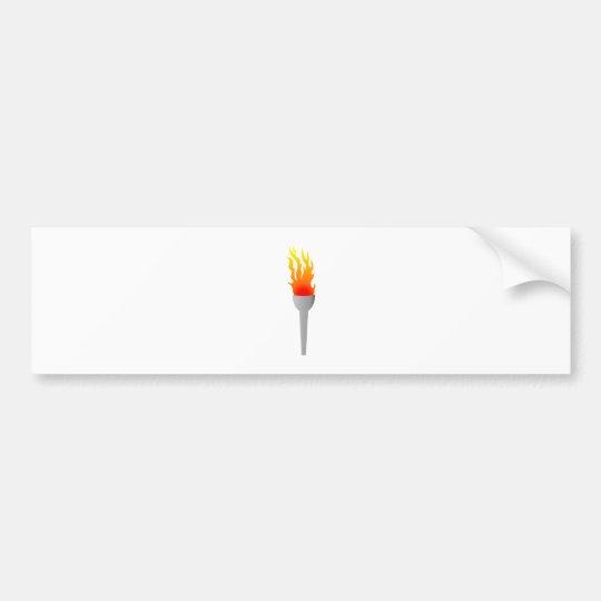 Flames torch of flames torch bumper sticker