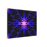 Flames Tribal Tattoo Purple and Blue Gallery Wrapped Canvas