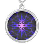 Flames Tribal Tattoo Purple and Blue Jewelry