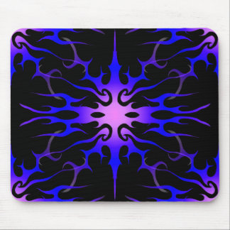 Flames Tribal Tattoo Purple and Blue Mouse Pad