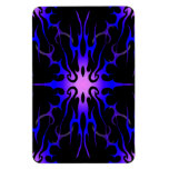 Flames Tribal Tattoo Purple and Blue Vinyl Magnets
