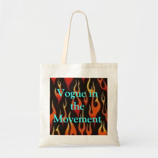 flames, Vogue in the Movement Budget Tote Bag