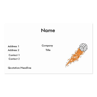 flames volleyball design Double-Sided standard business cards (Pack of 100)