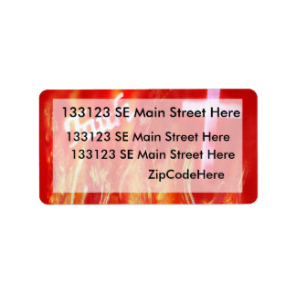 Flames with Faith and Cross Spray Painting Label