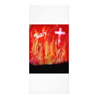 Flames with Faith and Cross Spray Painting Rack Card