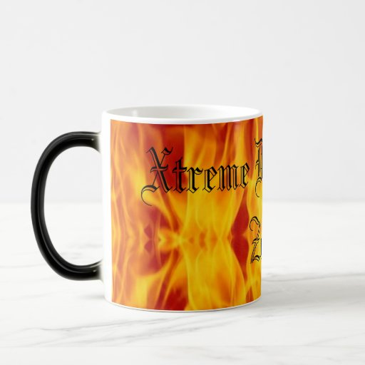 flames, Xtreme Destruction Zone 11 Oz Magic Heat Color-Changing Coffee Mug