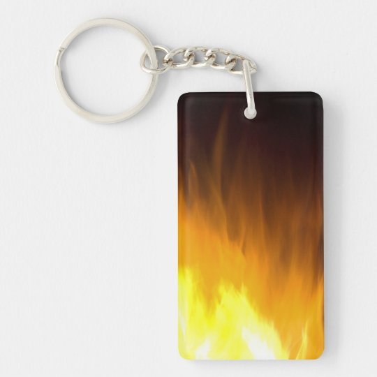 Flames, Yellow, Red, Black Keychain