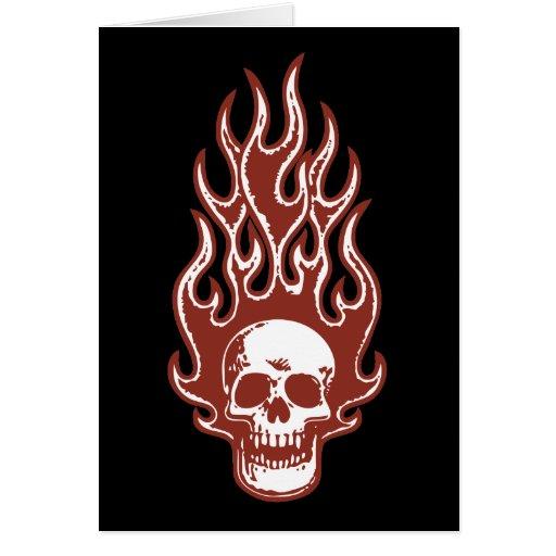 Flameskull 1 -red greeting card
