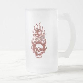 Flameskull 1 - rojo jarra de cerveza esmerilada