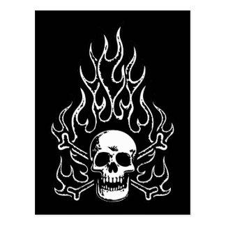 Flameskull -bw postcard