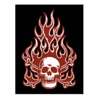 Flameskull -red postcard