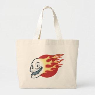 Flameskull -Retro Large Tote Bag