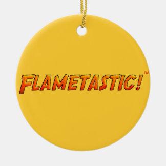 Flametastic Adorno Navideño Redondo De Cerámica
