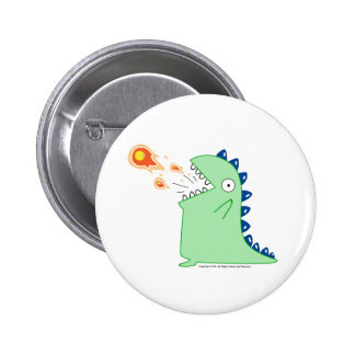 Flamey the Dragon Button