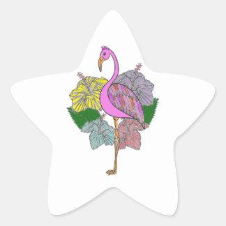 flamigo star sticker
