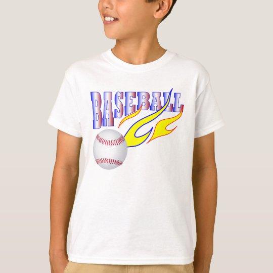 FLAMIN BASEBALL-REDWHITEBLUE T-Shirt