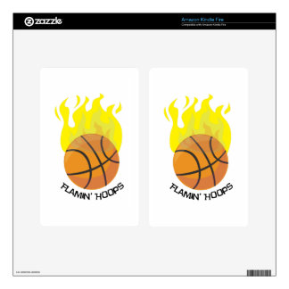 Flamin Hoops Kindle Fire Decal