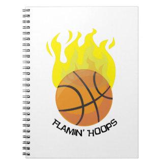 Flamin Hoops Notebook