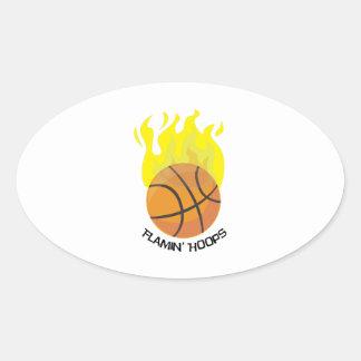 Flamin Hoops Oval Sticker