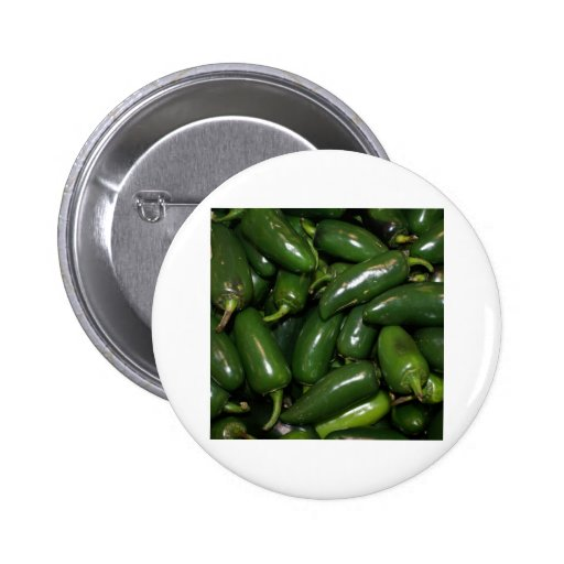 Flamin' Hot Green Jalepeno Peppers Art 2 Inch Round Button