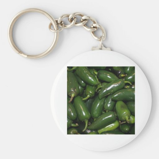 Flamin' Hot Green Jalepeno Peppers Art Keychain